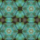 Teal Star Mandala by DesJardins
