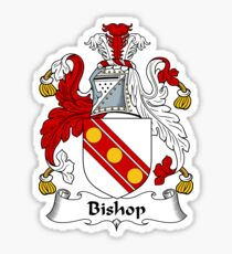 Bishop Coat of Arms - Family Crest Shirt Sticker