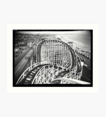 """The Cyclone"" Revere Beach, MA Art Print"