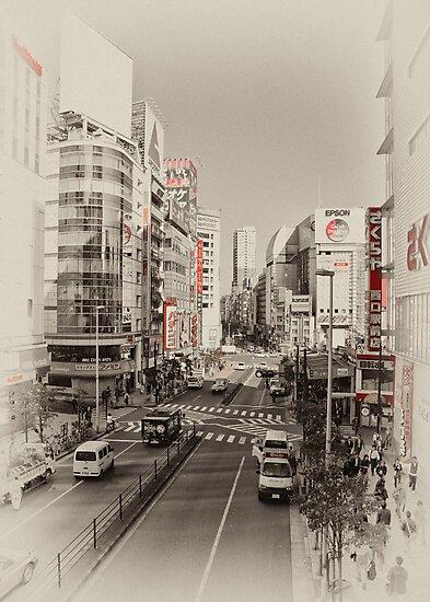 Shinjuku Streetscape by superpope