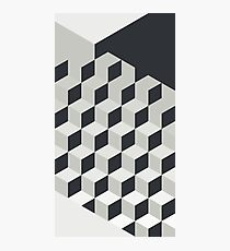 Gradient Cubes – Ebony Black / Warm Gray Photographic Print