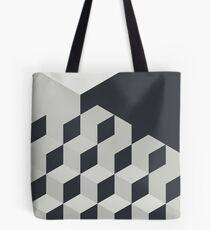 Gradient Cubes – Ebony Black / Warm Gray Tote Bag