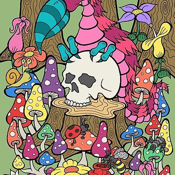Monster Bird and Skull by bgilbert