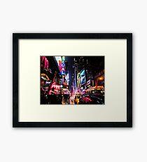 New York City Night Framed Print