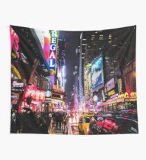 New York City Night Wall Tapestry