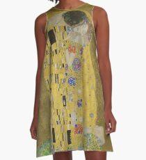 The Kiss - Gustav Klimt A-Line Dress
