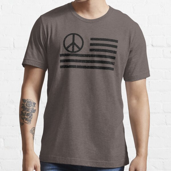 Distressed Usa Peace Flag Essential T-Shirt