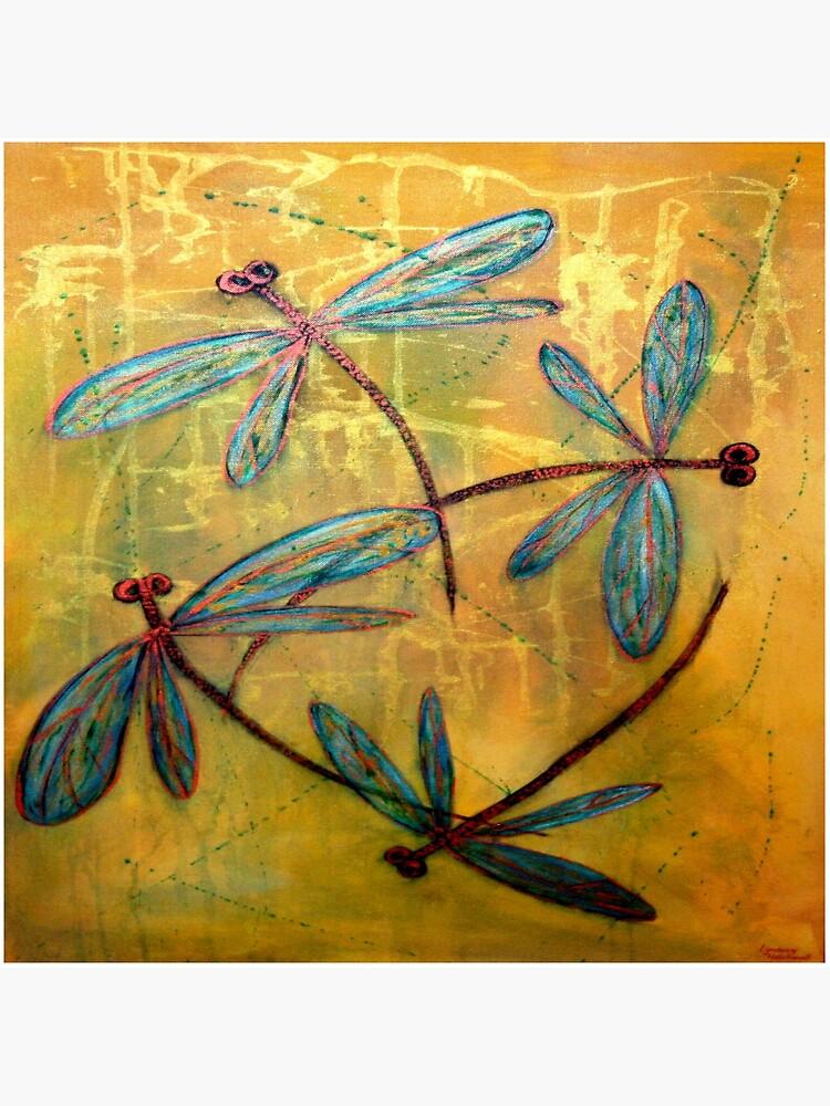 Dragonfly Haze by lyndseyart