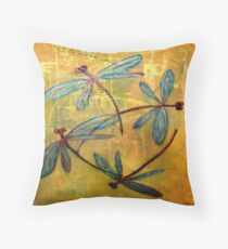 Dragonfly Haze Throw Pillow