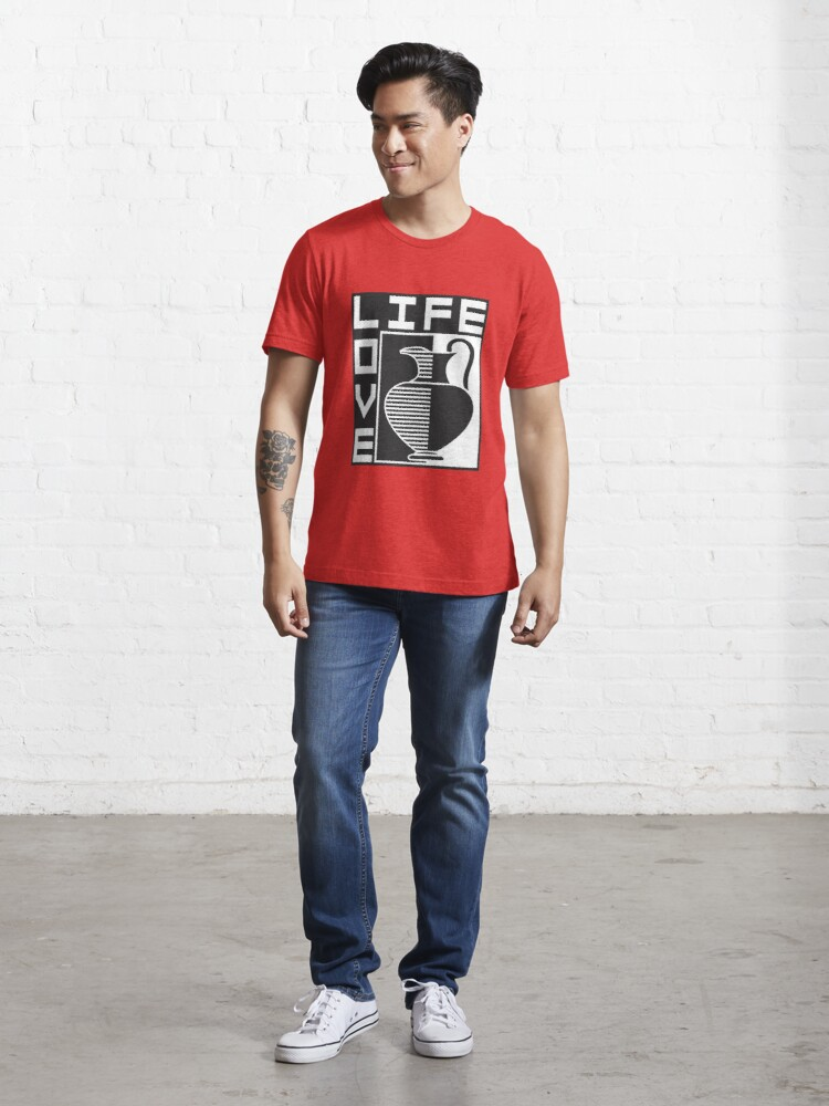 Alternate view of LIFE, LOVE, POTTERY Essential T-Shirt