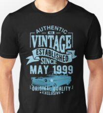 Vintage established since may 1999 Unisex T-Shirt