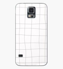 Black and white check, square Case/Skin for Samsung Galaxy