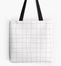 Black and white check, square Tote Bag
