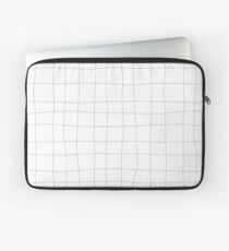 Black and white check, square Laptop Sleeve