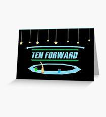 Ten Forward Greeting Card