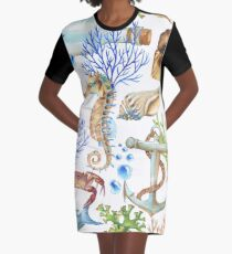 Living under the sea Graphic T-Shirt Dress