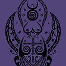 Pagan Wicca Art. Hekate, Mondgöttin.  von Christine Krahl