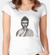 Shh ... do not disturb - Buddha - New Women's Fitted Scoop T-Shirt