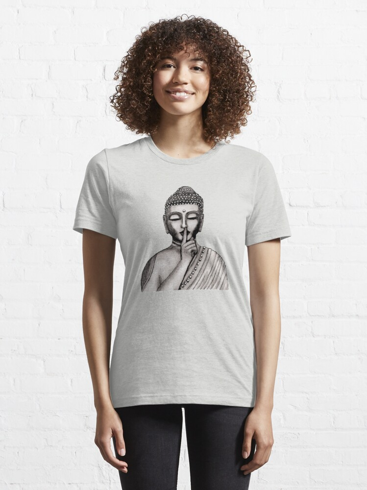 Alternate view of Shh ... do not disturb - Buddha - New Essential T-Shirt