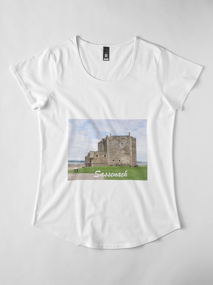 Alternate view of Blackness Castle - Fort William in Outlander Premium Scoop T-Shirt