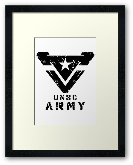 Halo Unsc Army Large Weathered Logo Framed Prints By Teethehee