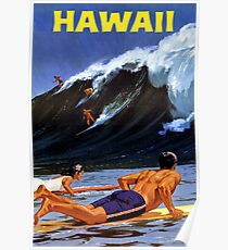 Hawaii Vintage Travel Poster restauriert Poster