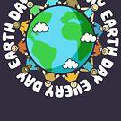 Tag der Erde jeden Tag Shirt für Lehrer von BootsBoots