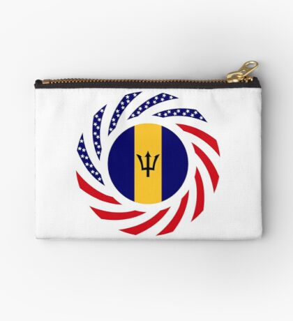 Barbadian American Multinational Patriot Flag Series Zipper Pouch