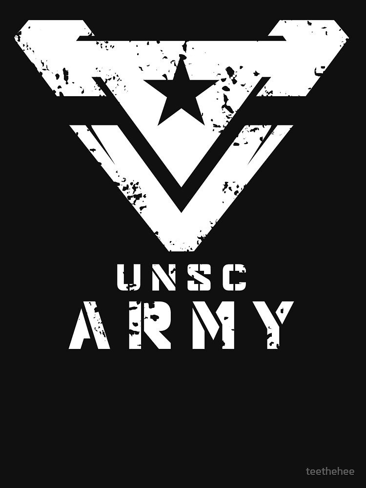 Halo Unsc Army Large Weathered Logo Classic T Shirt By Teethehee