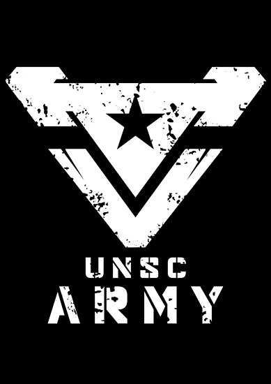 Halo Unsc Army Large Weathered Logo Posters By Teethehee Redbubble