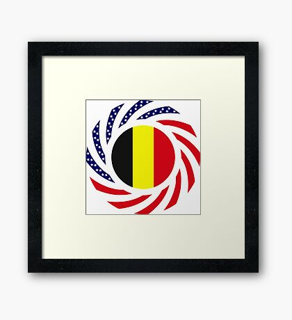 Belgian American Multinational Patriot Flag Series Framed Print
