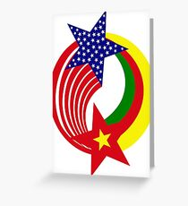 Cameroon American Multinational Patriot Flag Series Greeting Card