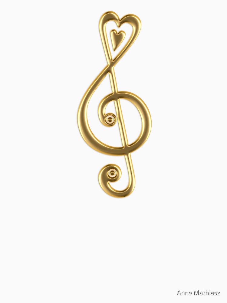 MUSIC CLEF HEART, Love, Note, Music, Treble Clef, Classic by boom-art