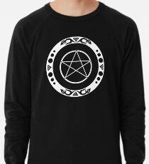 Pentagramm mit trinity Symbol. Leichter Pullover
