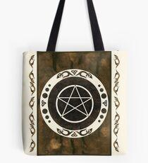 Pentagramm mit trinity Symbol. Tote Bag