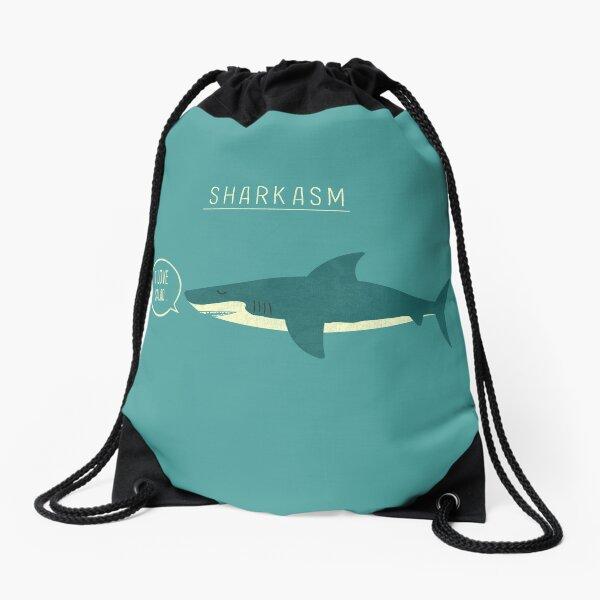 Sharkasm Drawstring Bag