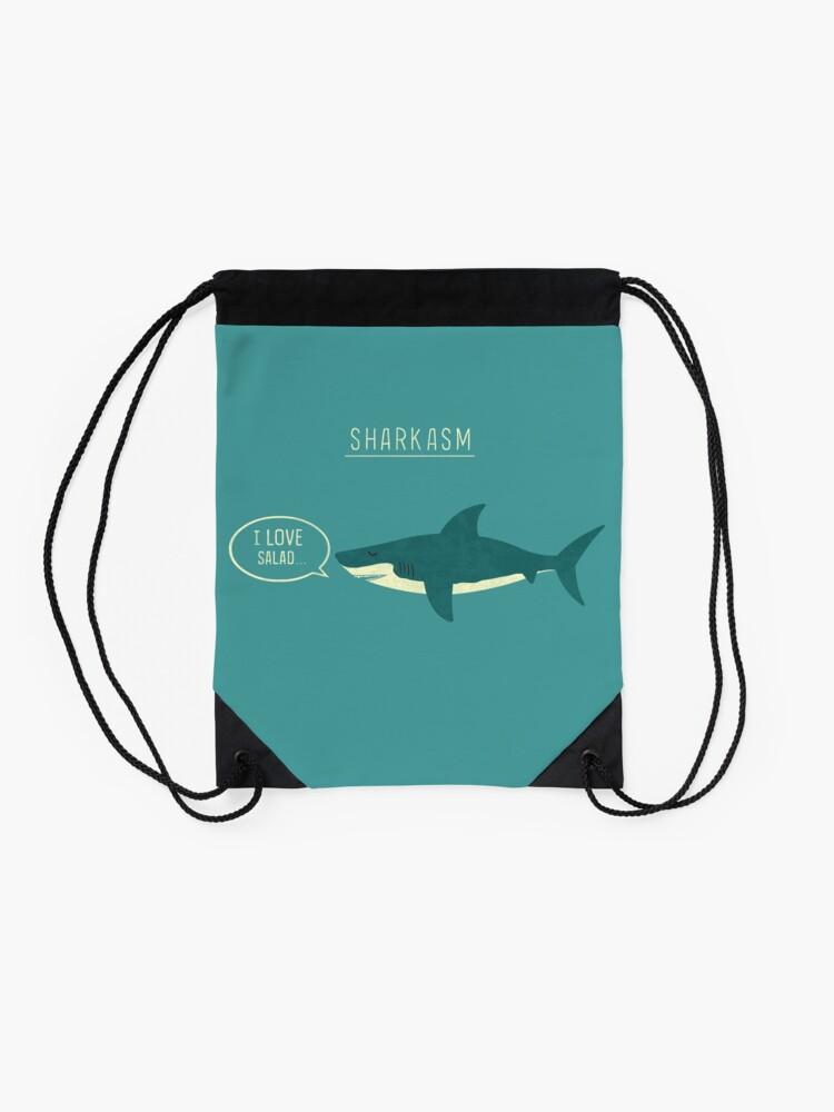 Alternate view of Sharkasm Drawstring Bag