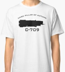 UNSC Pillar Of Autumn C-709 Ship Profile Classic T-Shirt