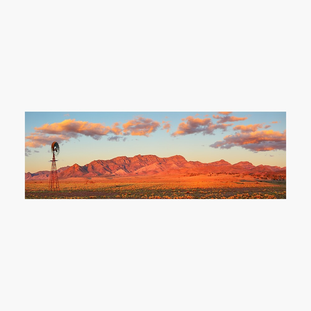 Western Pound Wall, Flinders Ranges, South Australia Photographic Print