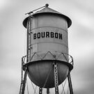 1x1 Bourbon Tower Black and White Art by Gregory Ballos