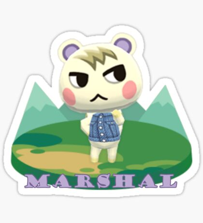 Animal Crossing Pocket Camp Marshal Announce Sticker