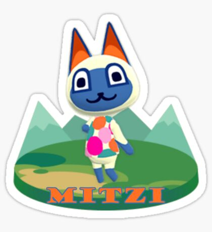 Animal Crossing Pocket Camp Mitzi Announce Sticker