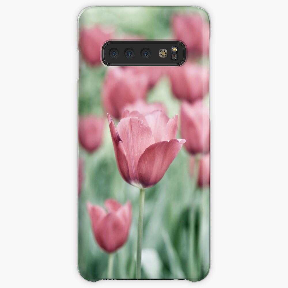 Pink Tulip Field Case & Skin for Samsung Galaxy