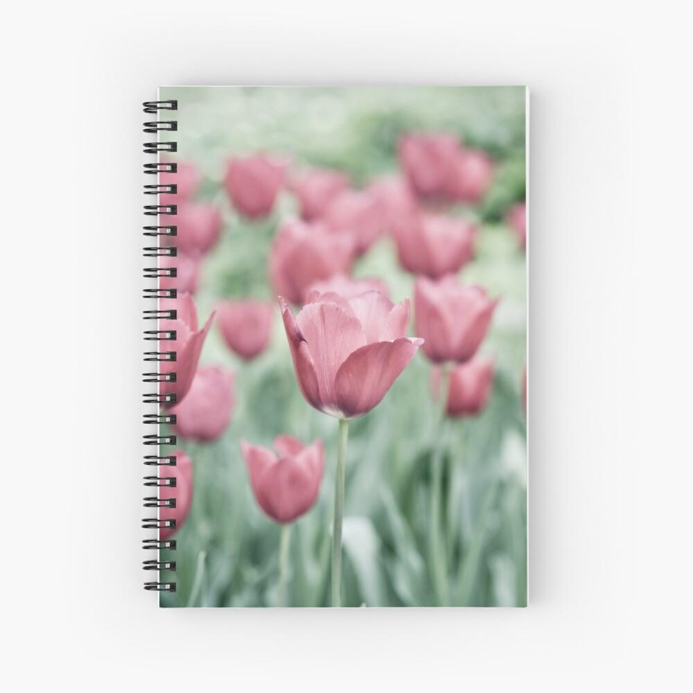 Pink Tulip Field Spiral Notebook