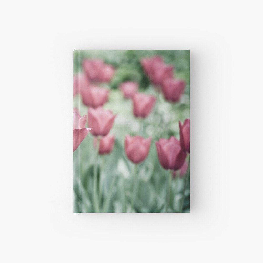 Pink Tulip Field Hardcover Journal