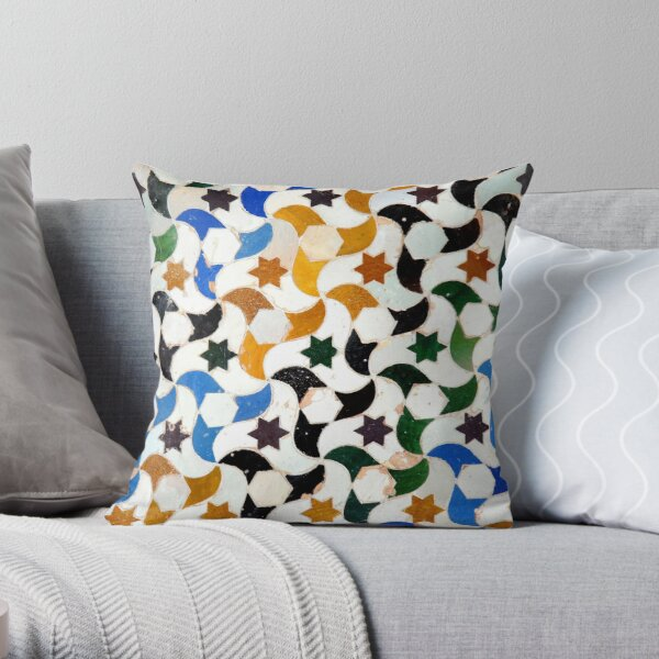 Alhambra Tile #3 Throw Pillow