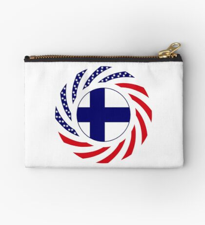 Finnish American Multinational Patriot Flag Series Zipper Pouch