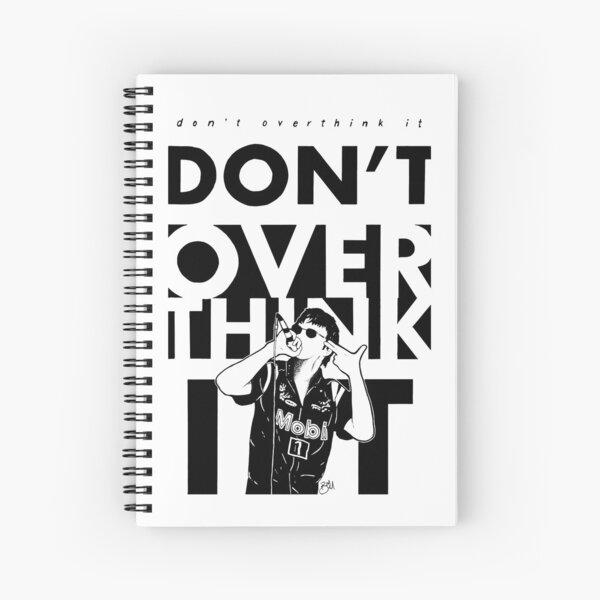 No lo pienses demasiado (transparente) Cuaderno de espiral