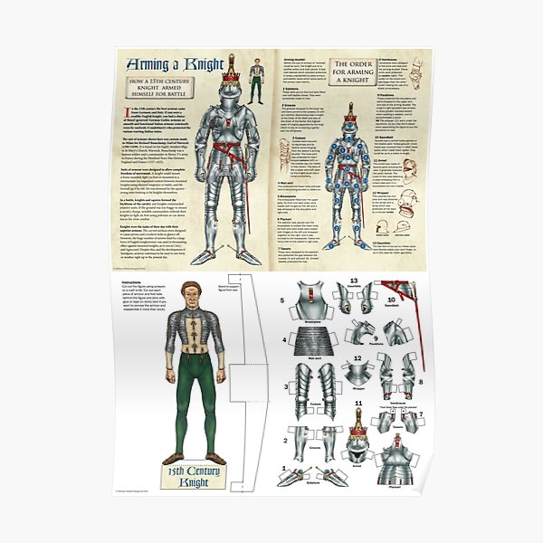 Arming a 15th century knight (paper doll version) Poster