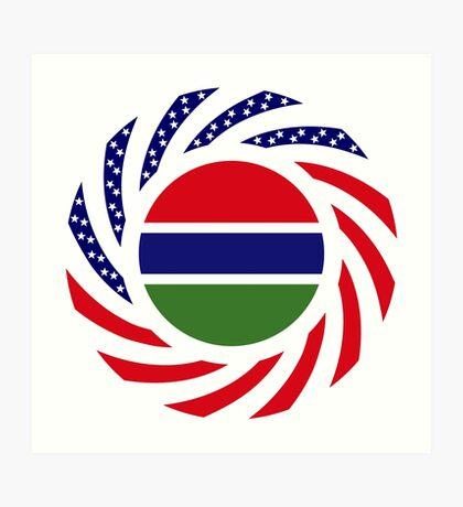 Gambian American Multinational Patriot Flag Series Art Print